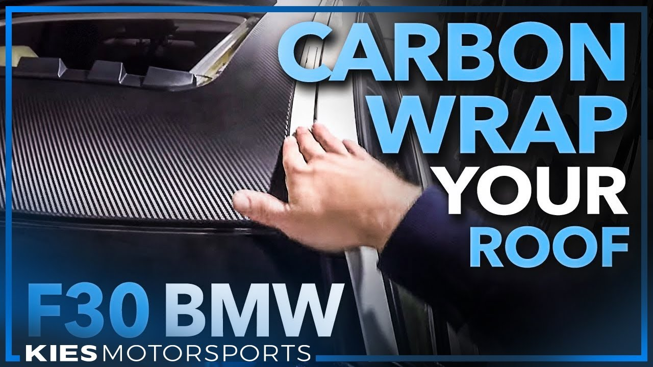 F30 BMW Roof Wrap Carbon Fiber Vinyl   YouTube