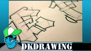 Graffiti Tutorial for beginners - How to draw cool letters E & F