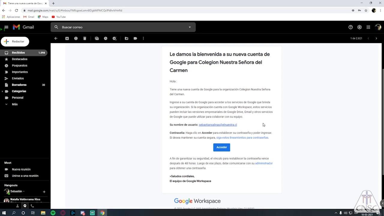 ACTIVACIÓN DE CORREO INSTITUCIONAL