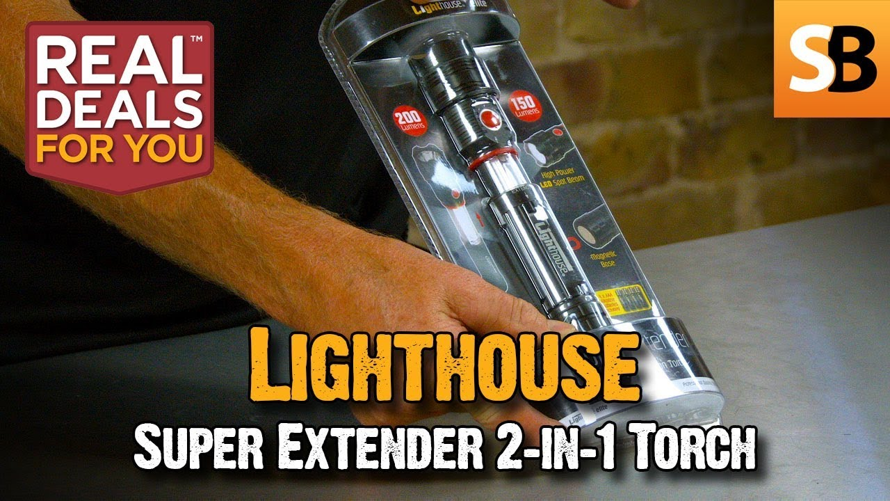 Lighthouse Super Extender 2 In 1 Torch Real Deals For You Youtube