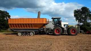 poland: grain cart brochard 45m3 transbordeur brochard 45m3 class xerion