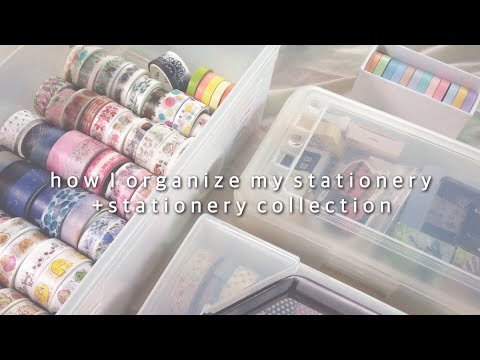 🍑 how i organize my stationery | stationery collection