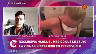 Un médico cordobés atendió en pleno vuelo a un pasajero que ocultó síntomas para volver a  Argentina