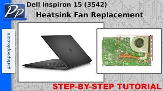 Dell Inspiron 15 (3542 / 3543) Heatsink / Cooling Fan Video Tutorial Teardown