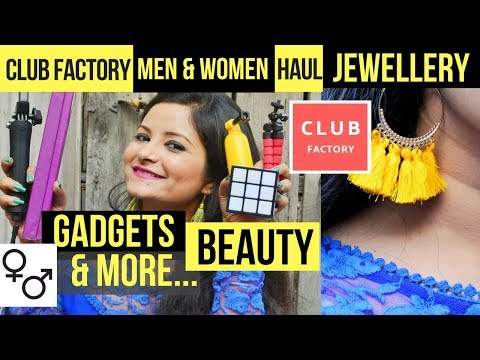Club Factory Men + Women Haul | Jewelry, Gadgets, Beauty & Lifestyle | Online Shopping India