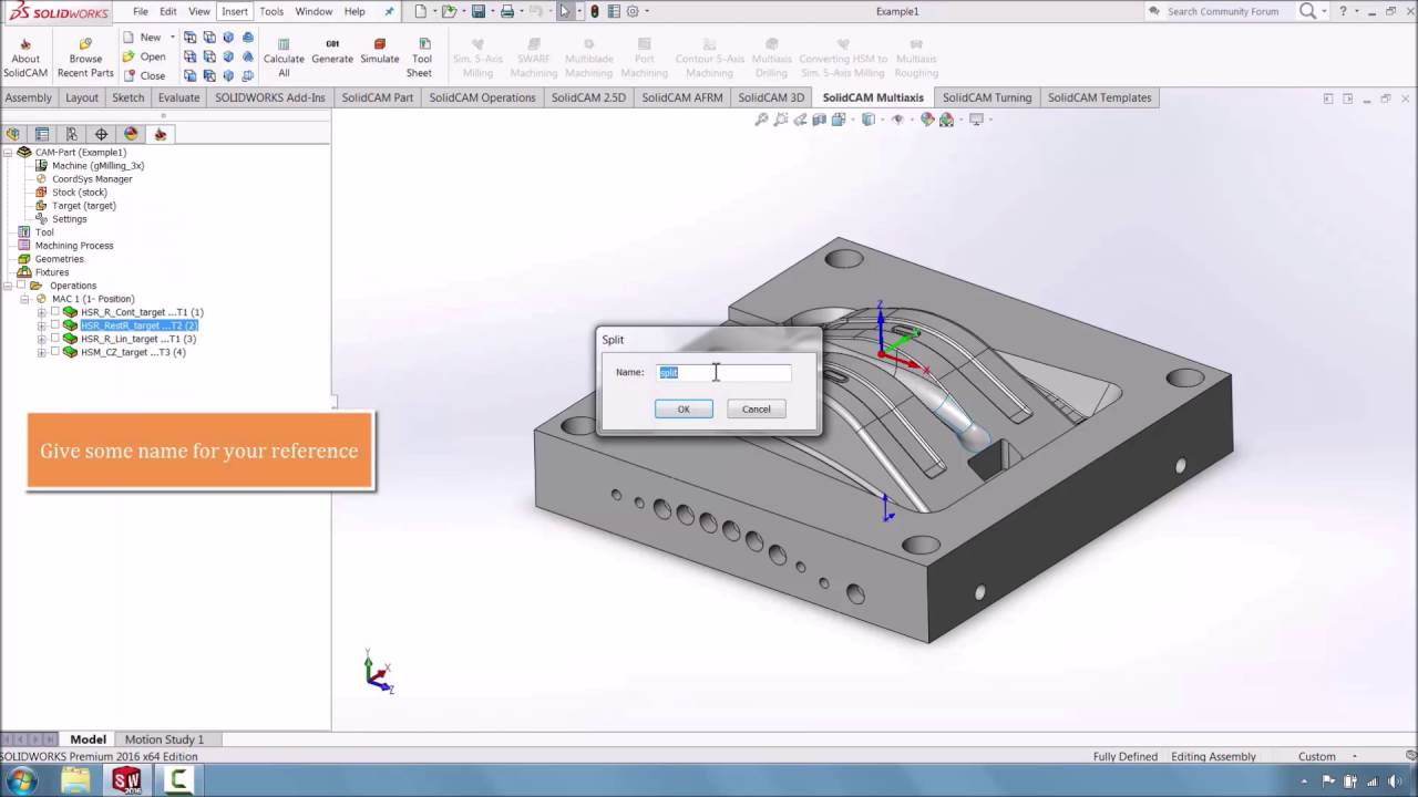 How to Split Programs in SolidCAM