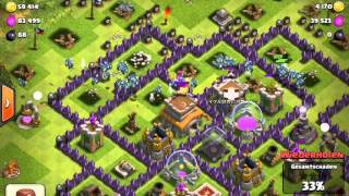 Clash of Clans| 100 Lakei Angriff |by King Laurence