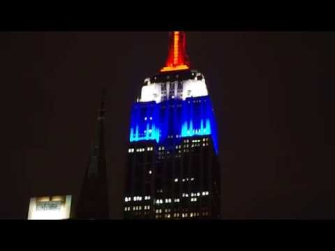 Empire State Building Honors France after Terror Attacks