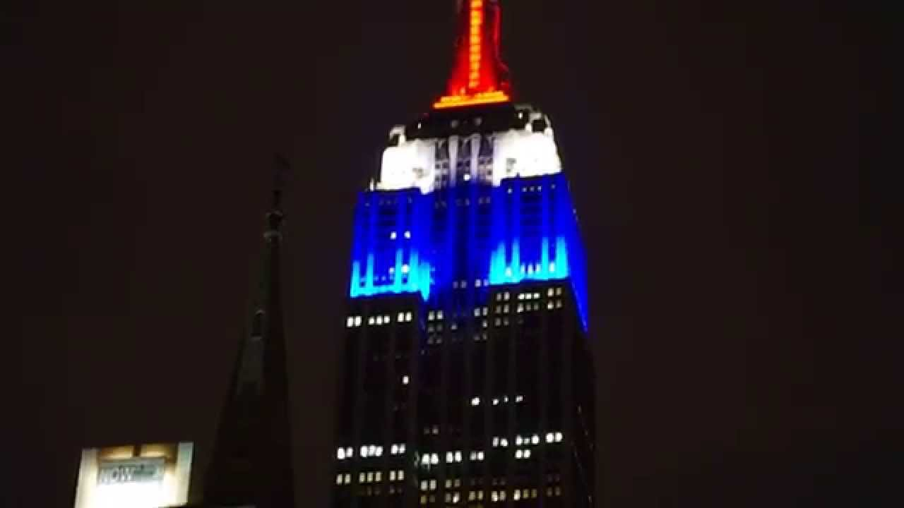 Empire State Building Bleu Blanc Rouge