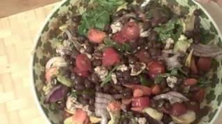 Raw Vegan Black Bean Salad With Ezekiel Tortilla's