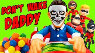 Trick or Treat Halloween Don't Wake Daddy with the Incredibles! Win a New Radz Candy Toy Dispenser!