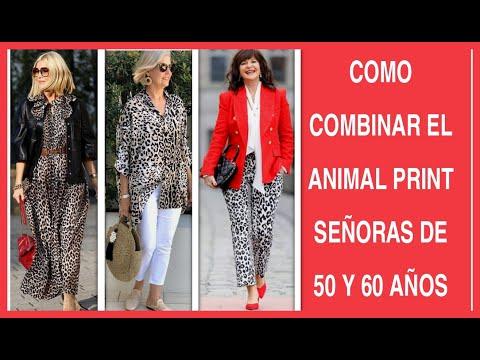MODA PARA SEÑORAS DE 50 Y 60 AÑOS COMBINA TUS PRENDAS ANIMAL PRINT OUTFITS  MUJERES DE 50 Y 60 AÑOS