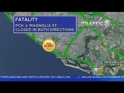Fatal Crash Shuts Down PCH In Huntington Beach
