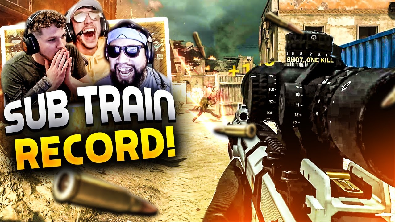 We BEAT OUR SUB TRAIN RECORD & were UNSTOPPABLE! - Modern Warfare