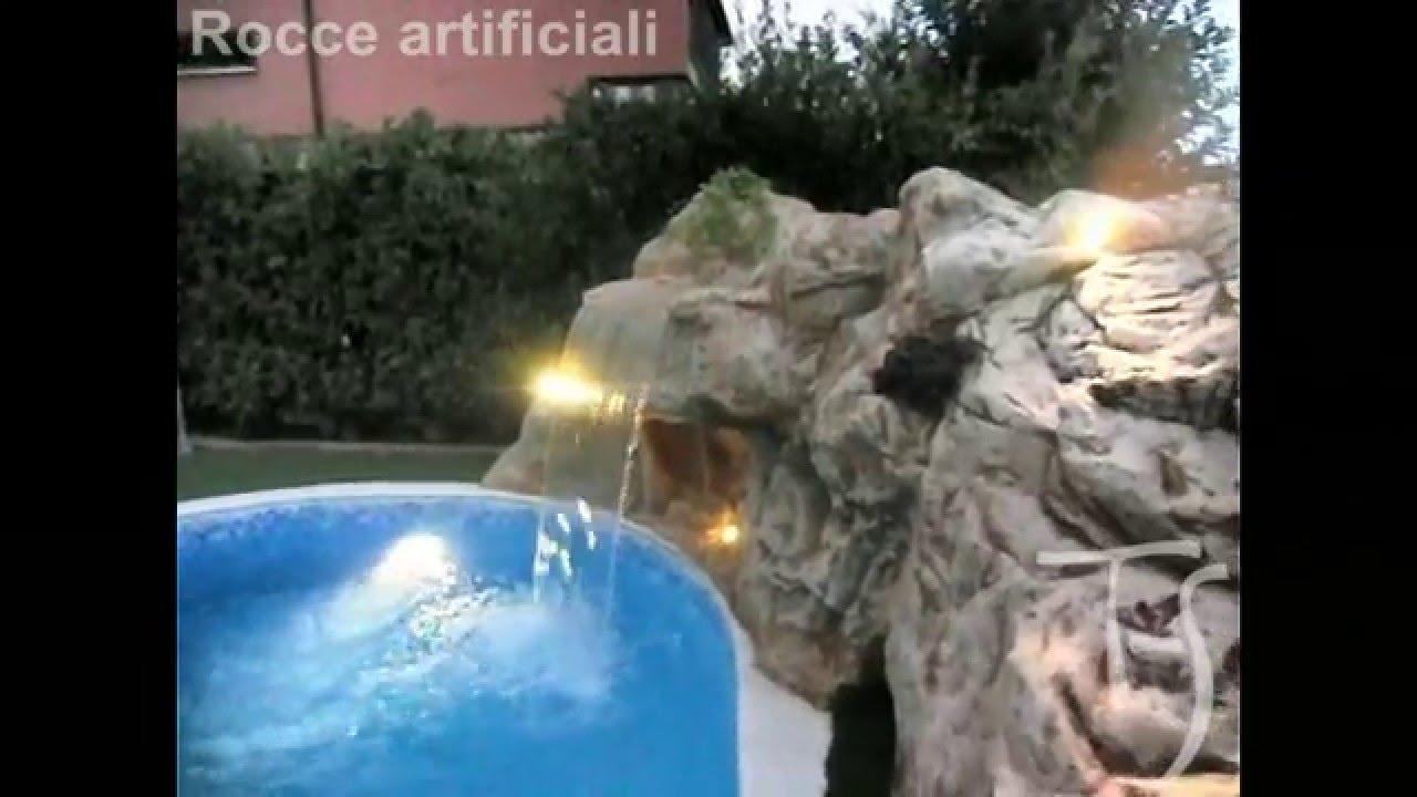 Cascate artificiali per laghetti bacini artificiali for Pompa laghetto esterna