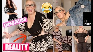 $1000 on Clothes from THE ICONIC! 💸💸  Plus Size Clothing Haul & Try On!
