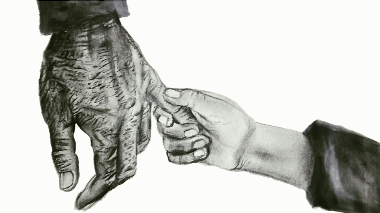 Realistic drawing of hand timelapse fathers day special