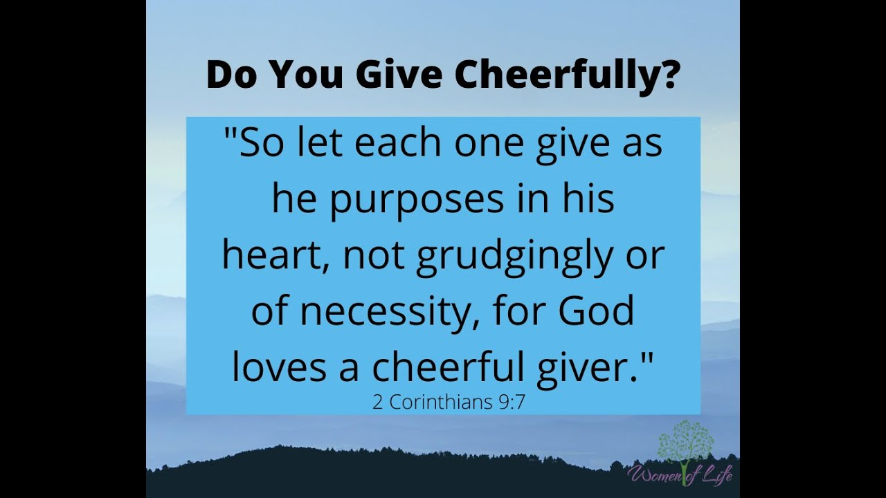 Do You Give Cheerfully?