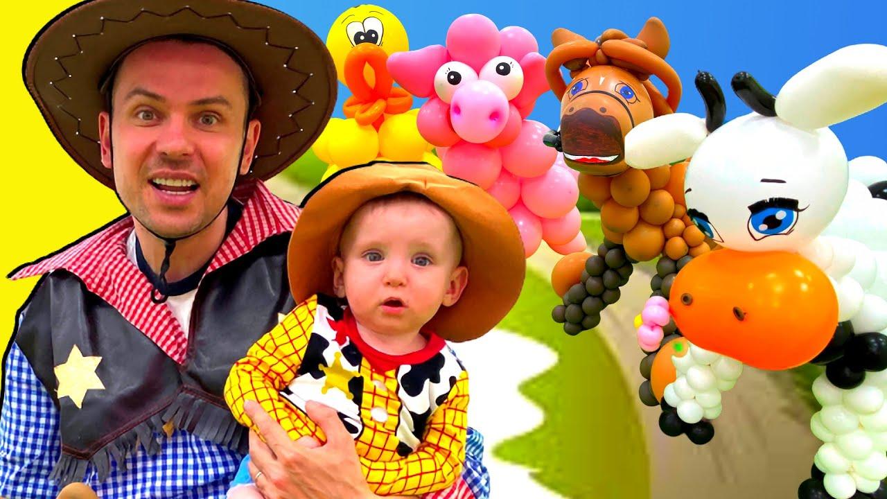Five Kids Old MacDonald Song Nursery Rhymes & Children's Songs