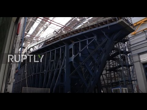 Russia: Keeling Ceremony Held For New Generation Of Anti-mine Ship In St. Petersburg