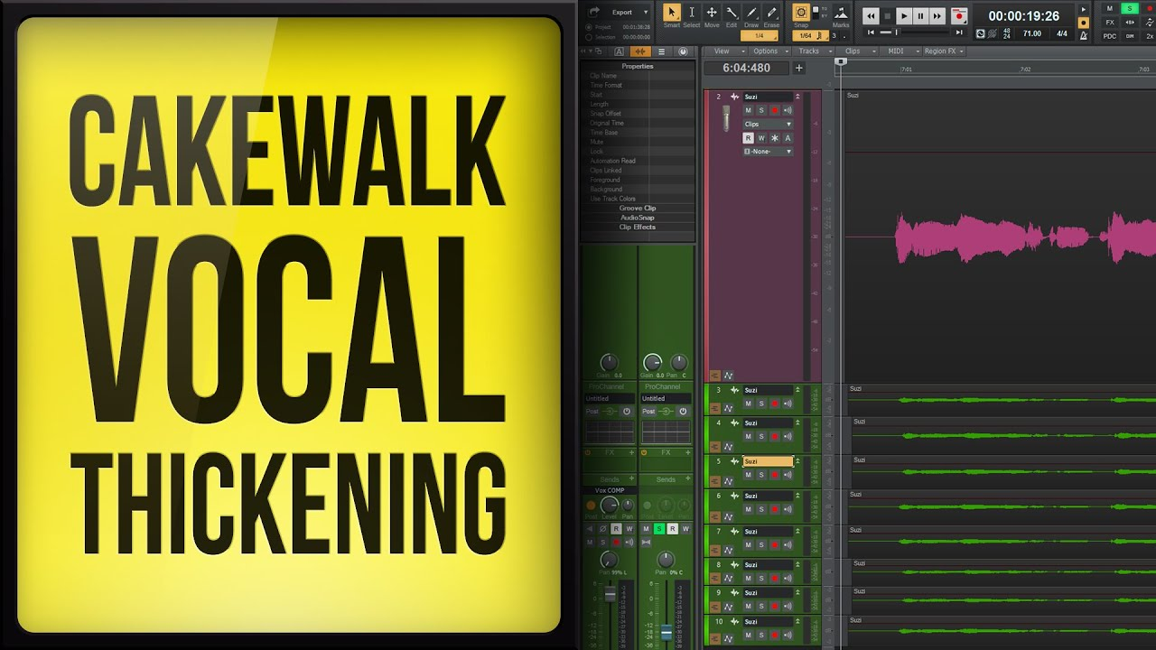 Vocal Thickening Trick in Cakewalk by Bandlab