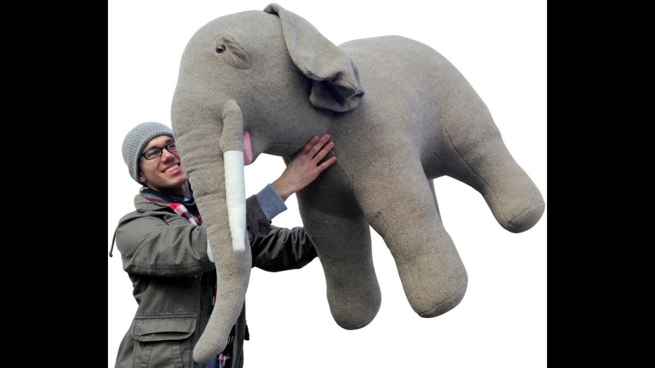 Giant Stuffed Elephant Made In The Usa 54 Inches Long Big Stuffed