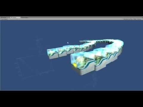 NXT - 3D blockchain visualization - Development Test
