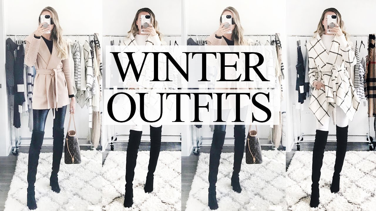WINTER OUTFITS 2019! HOW TO LOOK CUTE WHEN IT'S COLD! 2