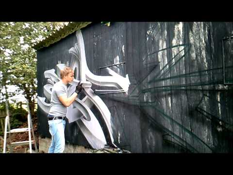 Some 3D graffiti art by Hencok Aerohollik hour
