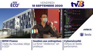 SQY Eco. Le rendez-vous éco et emploi du 18 septembre 2020