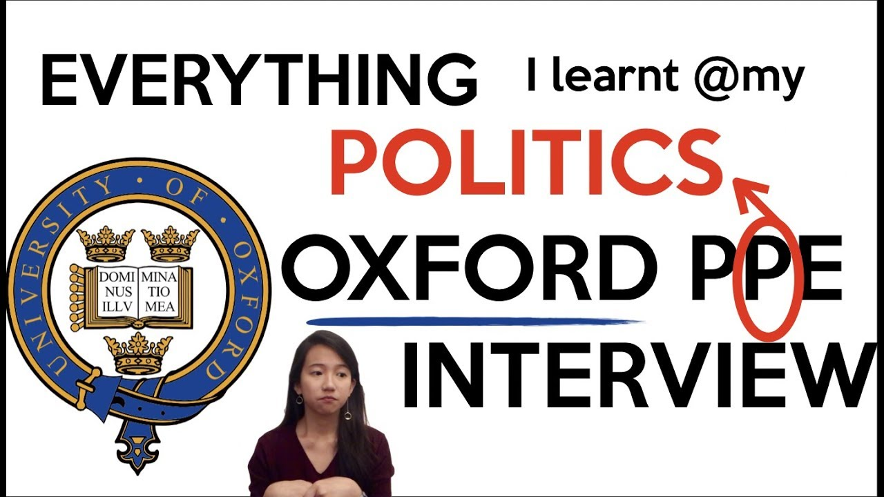 Inside my Oxford POLITICS Interview | Oxford PPE
