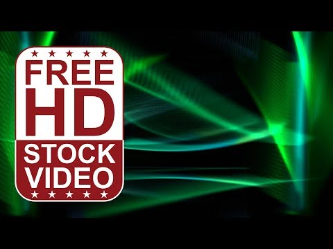 FREE HD video backgrounds – abstract animated green ethereal waves sweeps moving slowly on black bac