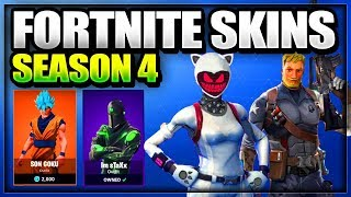*NEW LEAKED* Fortnite: SEASON 4 Skins + Tier 100 battle pass skin rewards + Battle Royale New Emotes
