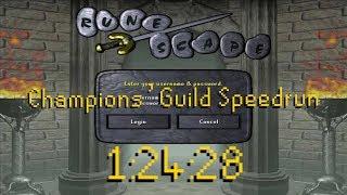 [WR] Old School Runescape Champions' Guild Speedrun in 1:24:28