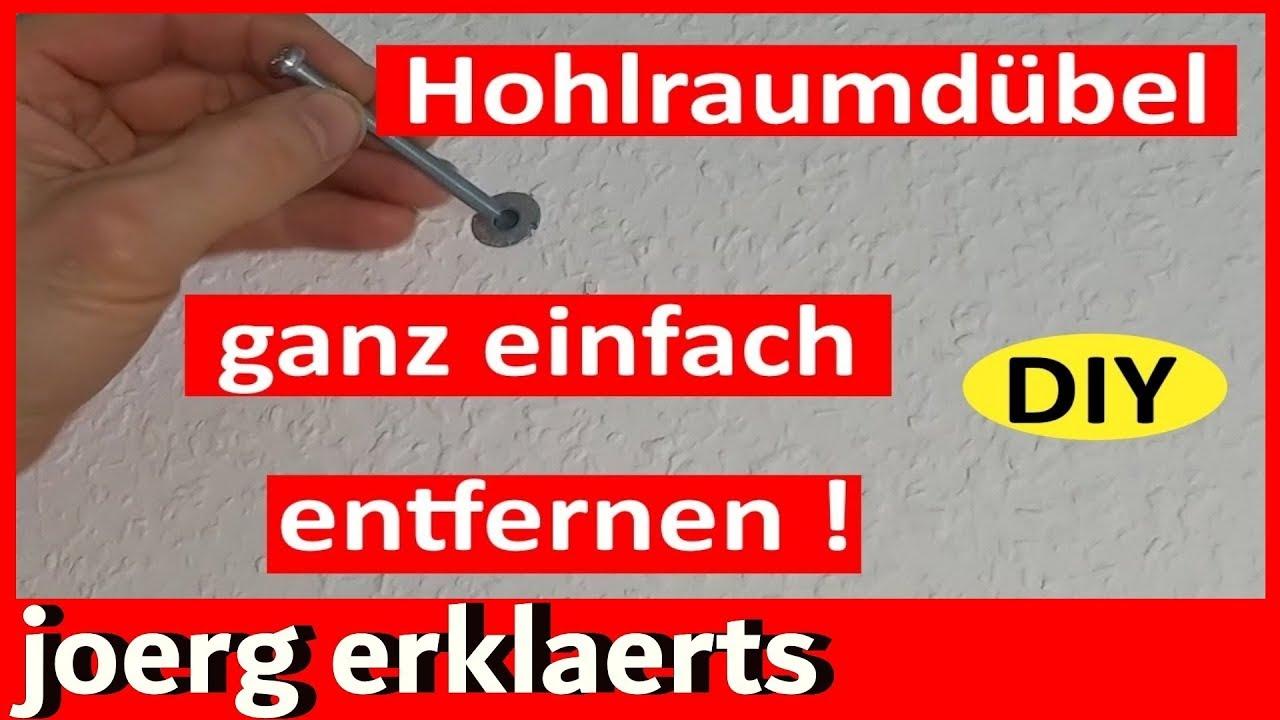 Hohlraumdubel Dubel Entfernen Remove Dowel Cavity Lifehack Vol 83