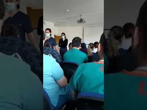 Sağlık çalışanlarının corona toplantısı