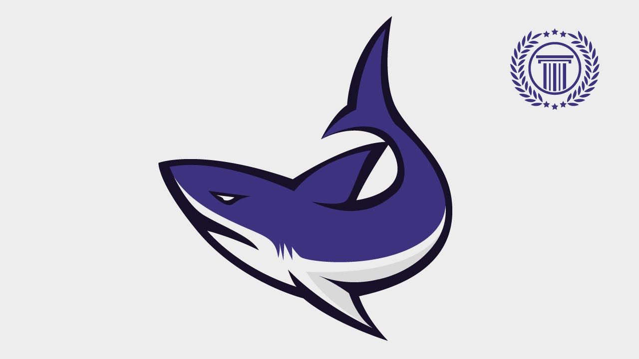 shark attack logo   e sport   sport team logo design no shark fin logo no shark fin logo