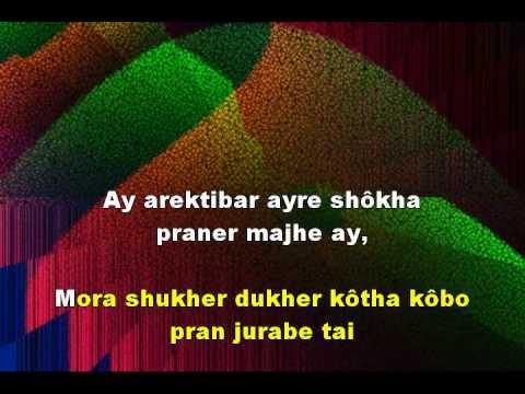 PURANO SHEI DINER KOTHA - Graphics Enhanced Karaoke in Wiki Bengali of a Tagore Song