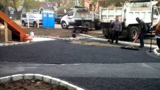New Asphalt Driveway for New Home by Westchester Modular Homes of Fairfield County