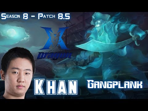 KZ Khan GANGPLANK vs CAMILLE Top - Patch 8.5 KR Ranked