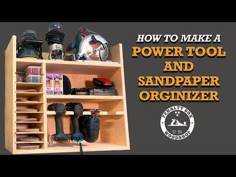 DIY Drill Charging Station and Sandpaper Organizer