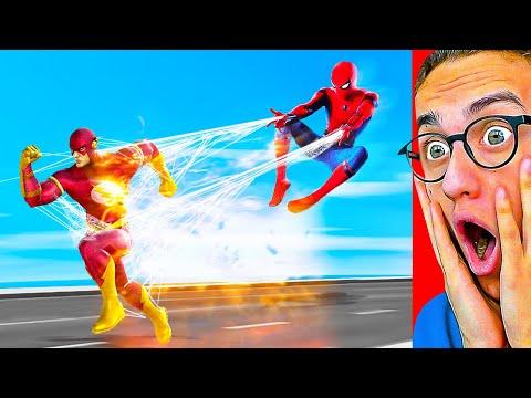 Reacting To MARVEL vs. DC SUPERHERO ANIMATION! (Spiderman, Flash, Batman and MORE!)