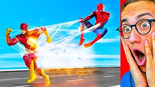 Reaccionando A MARVEL vs DC SUPERHÉROES de ANIMACIÓN! (Spiderman, Flash, Batman y MÁS!)