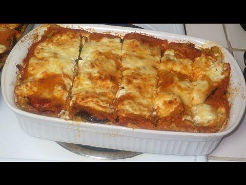 Como hacer una Lasagna vegetariana con hongos y berenjenas - vegetarian Lasagna