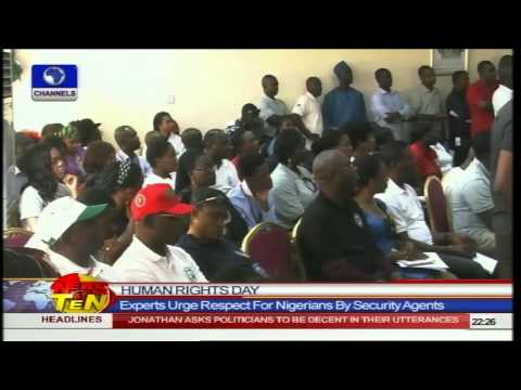 News@10:UN Seeks Promotion Of Human Rights Of Nigerians 10/12/14 Pt.1