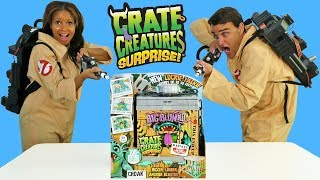 Ghostbusters Find Giant Crate Creature in Haunted House Toy Review Konas2002