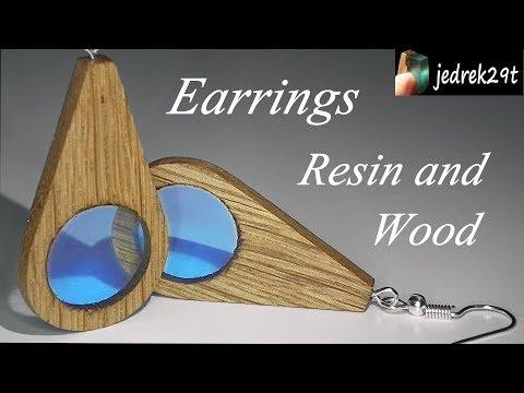 How to make Earrings Resin and Wood/Jak zrobić Kolczyki z Żywicy i drewna
