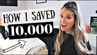How I saved $10,000 as a college student!