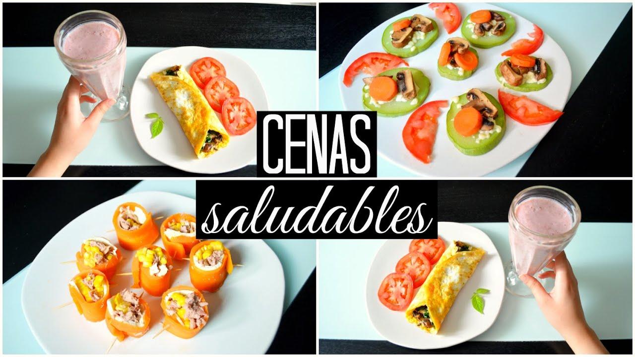 Que cenar y no engordar 3 ideas colaboracion con alexandra rodriguez youtube - Alimentos que no engordan para cenar ...