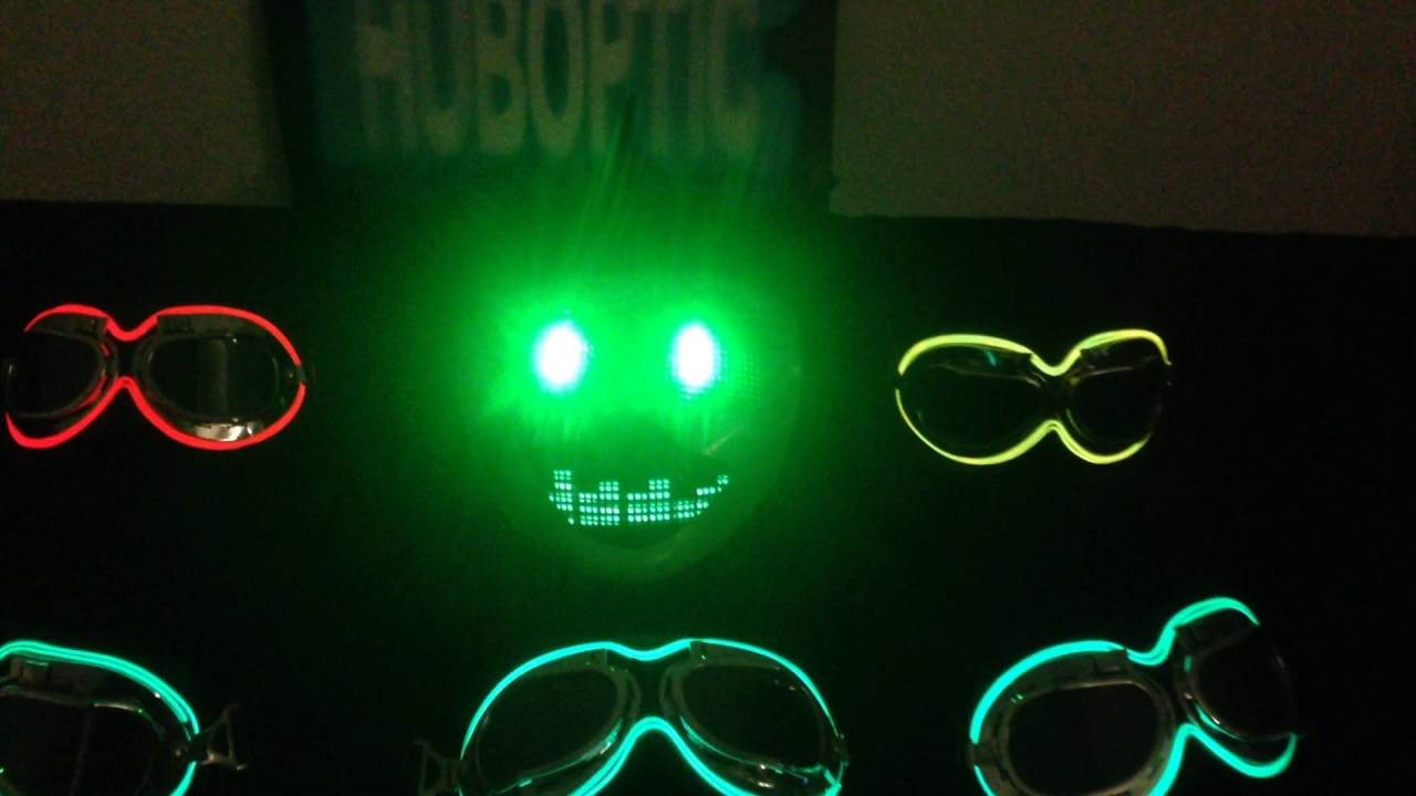green eyes fx mask light up bow ties party mask dj helmet halloween youtube